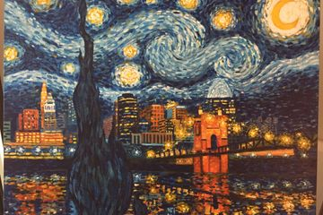 Cincinnati painting inspired by Vincent Van Gogh.