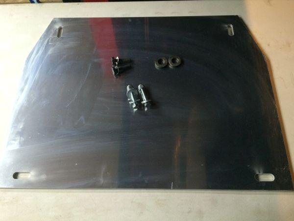 "Mid Skid Plate 1/4"" Aluminium"