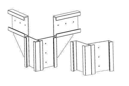Upper and Lower Corner Bracket Set
