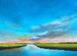 Original oil paintings, marsh paintings, coastal landscapes, art by Nancy Hughes Miller for sale onl