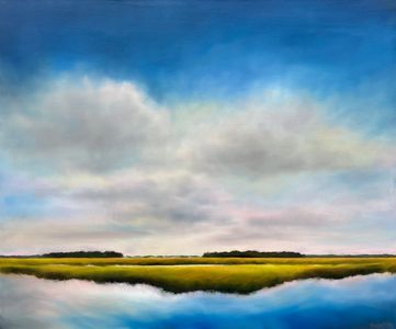 Original oil paintings, marsh paintings, coastal landscapes by Nancy Hughes Miller for sale online.