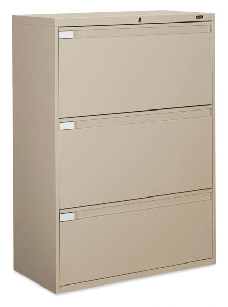 "Global 9336P Series 3 Drawer Lateral File 36"" Wide"