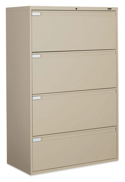"Global 9336P Series 4 Drawer Lateral File 36"" Wide"