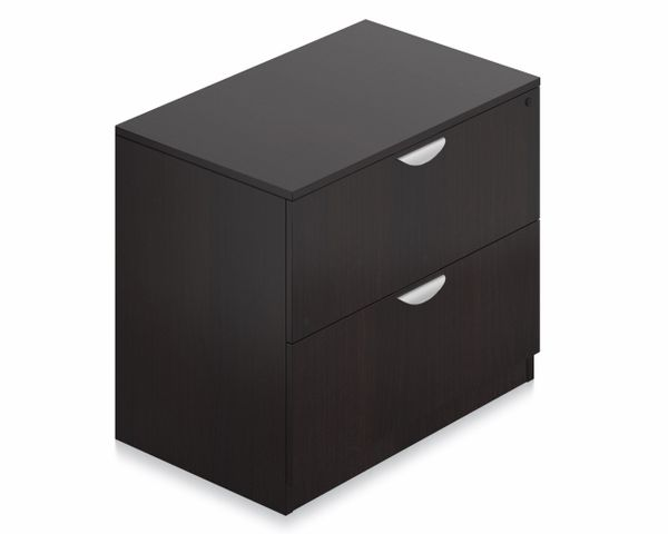 "Laminate 2-Drawer Lateral File Cabinet 36"" x 22"" - OTG - AOF"