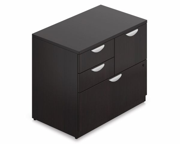 Offices To Go Espresso Mixed Storage Unit with Lock SL3622MSF