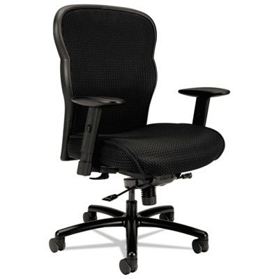 Hon Basyx VL705 Series Big & Tall Mesh Chair, Mesh Back/Fabric Seat, Black