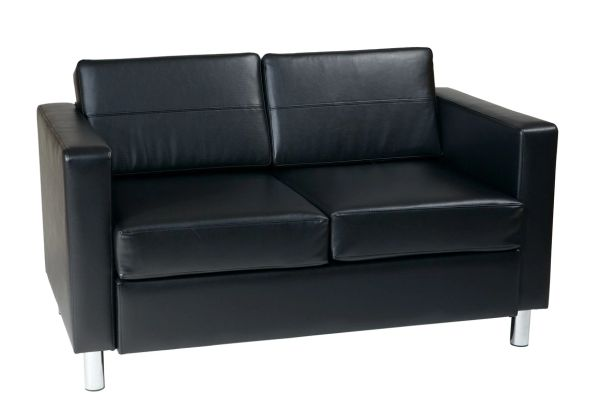 OSP Worksmart Pacific Loveseat in Black, Espresso Black, Espresso, Lipstick, Snow, Java, Buff, Blue or Sage Vinyl