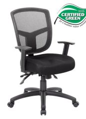 Boss Chairs - Contract Mesh Task Chair - Black B6023