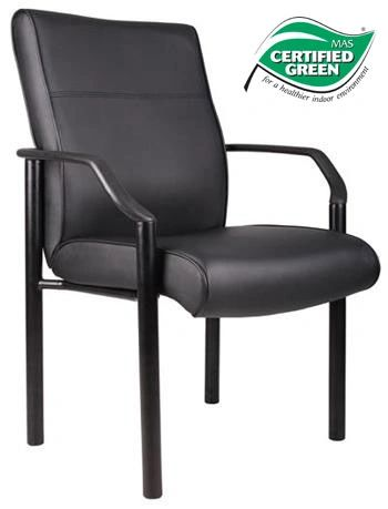 Boss Chair - Black LeatherPlus Guest Chairs B689