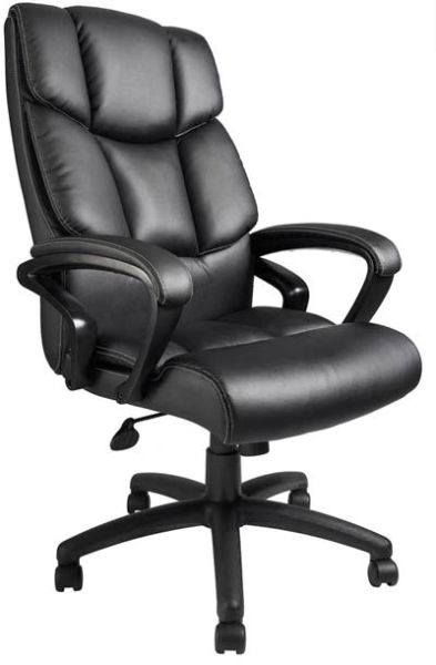 Boss Chair - Black Top Grain Leather Executive Chair B8701