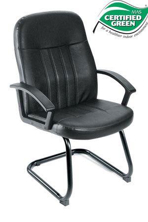 Boss Chair - Black Budget LeatherPlus Guest Chair B8109