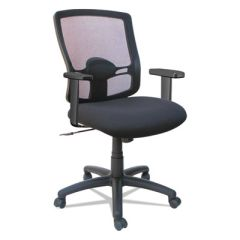 Etros Series Mesh Mid-Back Swivel/tilt Chair, Black