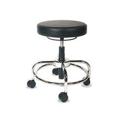 Alera Hl Series Height-Adjustable Utility Stool, Black