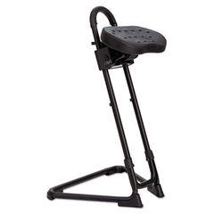 Alera Plus Ss Series Sit/stand Adjustable Stool, Black