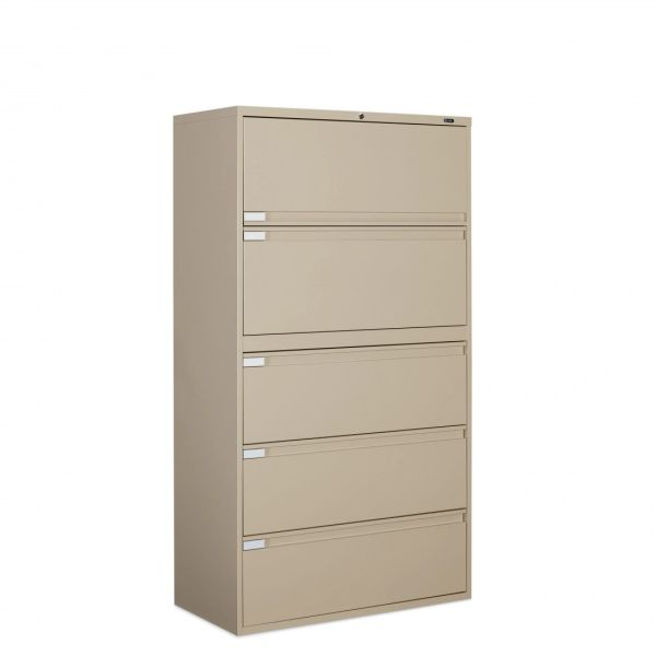 """Global 9336P Series 5 Drawer Lateral File 36"""" Wide"""