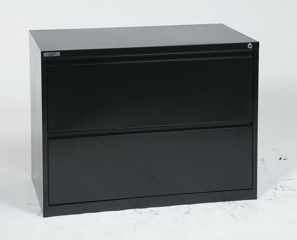 "OSP 36"" WIDE 2 DRAWER LATERAL FILE WITH LOCK AND ADJUSTABLE GLIDES"