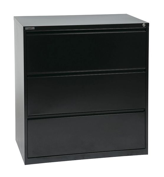 "OSP 36"" WIDE 3 DRAWER LATERAL FILE WITH LOCK AND ADJUSTABLE GLIDES"