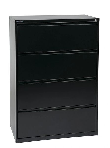 "OSP 36"" WIDE 4 DRAWER LATERAL FILE WITH LOCK AND ADJUSTABLE GLIDES"