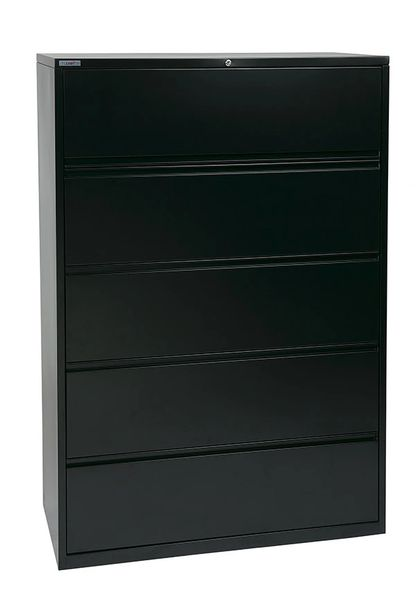 "OSP 42"" WIDE 5 DRAWER LATERAL FILE WITH LOCK AND ADJUSTABLE GLIDES"