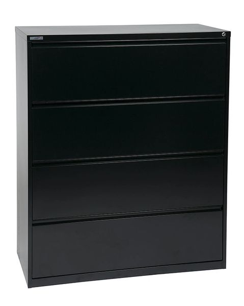 "OSP 42"" WIDE 4 DRAWER LATERAL FILE WITH LOCK AND ADJUSTABLE GLIDES"