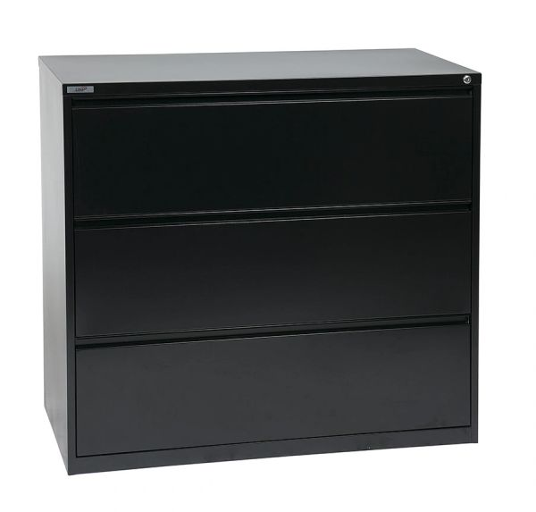 "OSP 42"" WIDE 3 DRAWER LATERAL FILE WITH LOCK AND ADJUSTABLE GLIDE3"