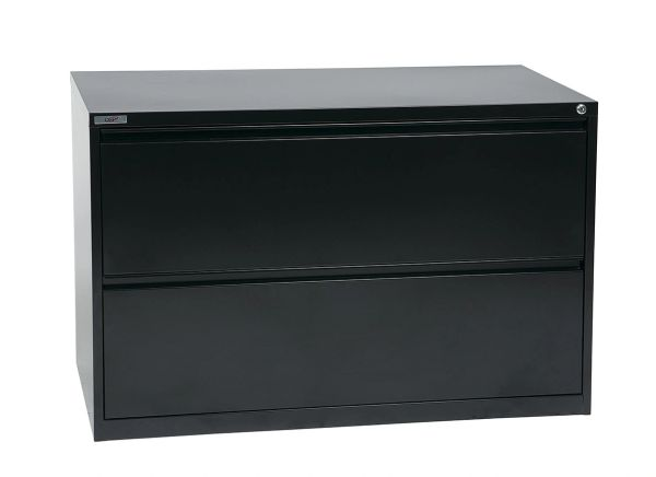 "OSP 42"" WIDE 2 DRAWER LATERAL FILE WITH LOCK AND ADJUSTABLE GLIDE3"