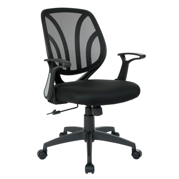 OSP work smart Mesh back task chair with flip arms. 4 colors to chose from