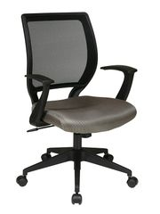 OSP Mesh back task chair with fabric seat and T arms. Custom colors available