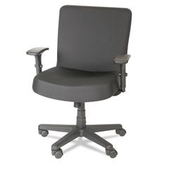 Alera Plus XL Series Big & Tall Mid-Back Task Chair, Black