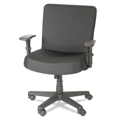 Alera Plus XL Series Big & Tall Mid-Back Task Chair, Black