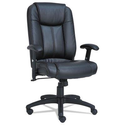 Alera CC4119 CC Series Executive High-Back Swivel/Tilt Leather Chair, Black