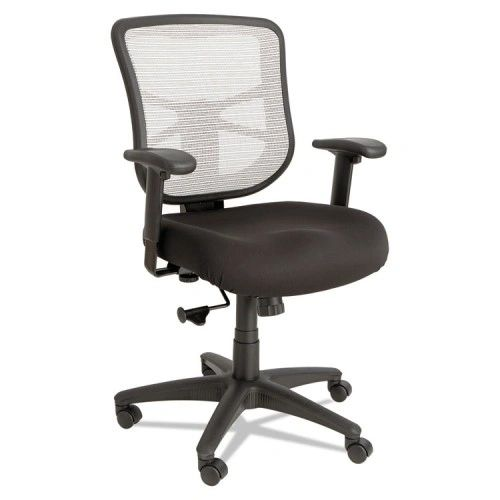 Alera Elusion Series Mesh Mid-Back Swivel/Tilt Chair, Black/White
