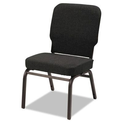 Alera® Oversize Stack Chair , Black Fabric Upholstery, 2/Carton