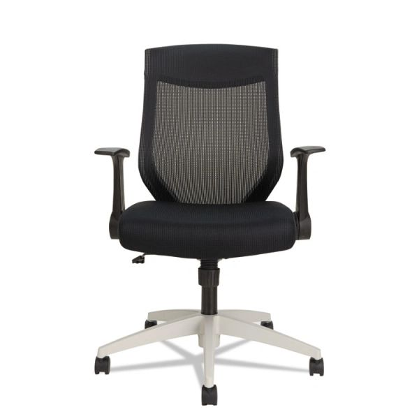 Alera® EB-K Series Synchro Mid-Back Mesh Chair, Black/Cool Gray Frame