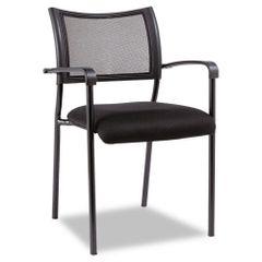 Alera® Eikon Series Stacking Mesh Guest Chair, Black, 2/Carton