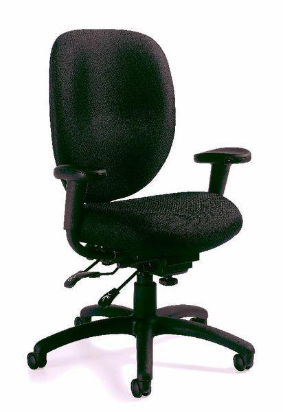 Global OTG - TOTG11653B Black Multi-Function Task Chair