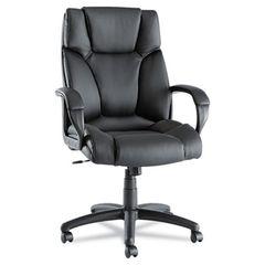Fraze Series High-Back Swivel/tilt Chair, Black Leather