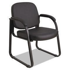 Genaro Series Sled Base Guest Chair, Black Vinyl