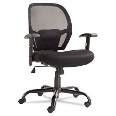 Merix450 Series Mesh Big/tall Mid-Back Swivel/tilt Chair, Black