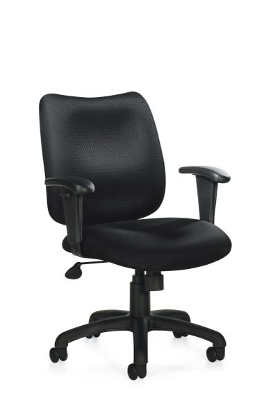 Global OTG - TOTG11612B Black Tilter Task Chair with Arms