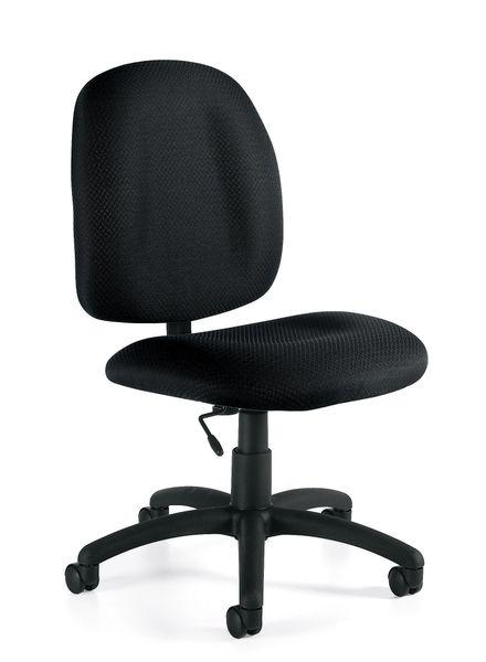 Global OTG - TOTG11650 Black Armless Tilter Task Chair