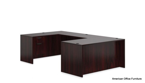 "Executive ""U"" Desk with Two Hanging Pedestals 71"" x 108"" - OTG - AOF"
