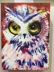 Laurel Bahe Owl Art