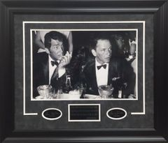 Dean Martin & Frank Sinatra Photo Framed With Lazered Quote