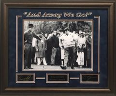 "Arnold Palmer and Jackie Gleason ""And Away We Go!"" 11x14 Photo with Engraved autographs"