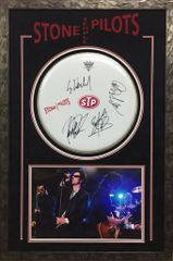 "Stone Temple Pilots Signed 16"" Drumhead all 4 members"