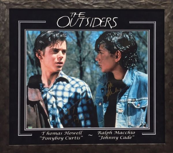 The Outsiders 16x20 photo signed Thomas Howell & Ralph Macchio