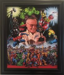 Stan Lee Marvel Comics Signed Canvas SOLD!