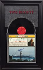 """Tony Bennett Signed LP cover with vinyl """"I Left My Heart In San Francisco"""""""