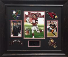 Pat Tillman Framed Collage With Lasered Autograph Replica